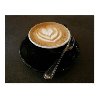 El café es amor - postal