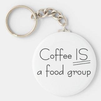 El café ES camisetas y regalos de un grupo de alim Llavero Redondo Tipo Pin