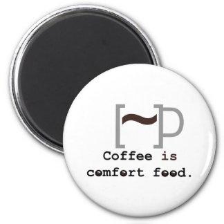 El café es comida de la comodidad imanes
