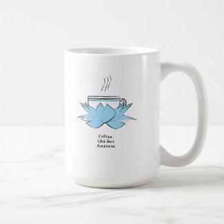 el café es como zen taza