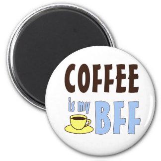 El café es mi BFF Imán Redondo 5 Cm