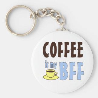 El café es mi BFF Llavero Redondo Tipo Pin