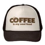 El café es mi COMIDA del alma Gorras De Camionero