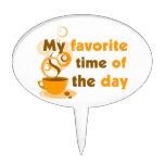 El café es mi época preferida del día decoración de tarta