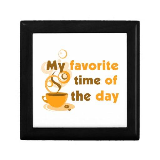 El café es mi época preferida del día caja de recuerdo