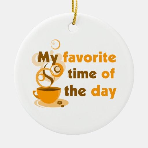 El café es mi época preferida del día adorno redondo de cerámica