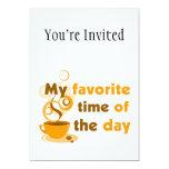 El café es mi época preferida del día comunicado personal
