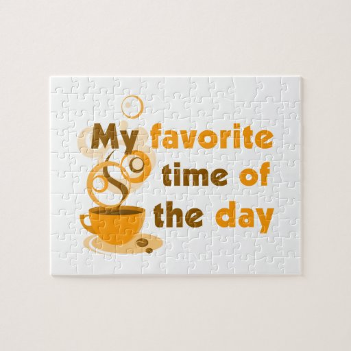El café es mi época preferida del día puzzles con fotos