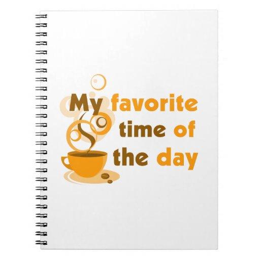 El café es mi época preferida del día spiral notebook