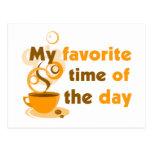 El café es mi época preferida del día tarjetas postales