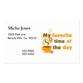 El café es mi época preferida del día tarjetas de visita