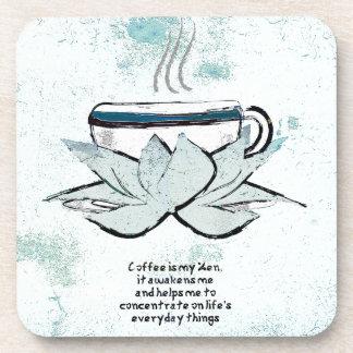el café es mi práctico de costa del zen posavaso