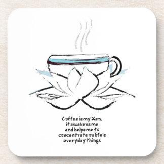el café es mi práctico de costa del zen posavasos