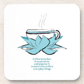 el café es mi práctico de costa del zen posavasos de bebidas