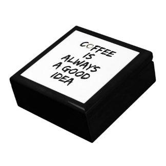 El café es siempre una buena idea - mancha del caja de joyas
