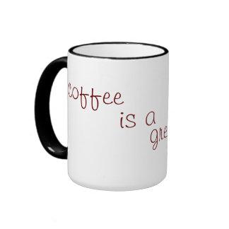 el café es un gran laxante taza de dos colores