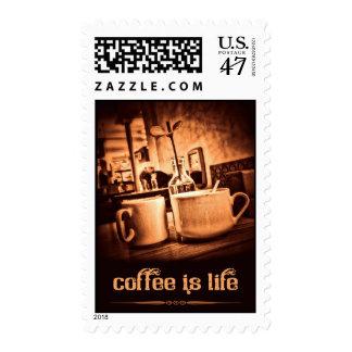 El café es vida estampillas