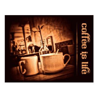 El café es vida tarjetas postales