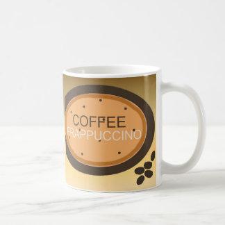 El café Frappuccino firma adentro el naranja y a Taza