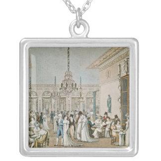 El café Frascati en 1807 Colgante Cuadrado