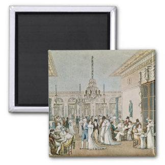 El café Frascati en 1807 Imanes De Nevera