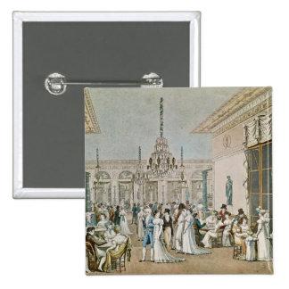 El café Frascati en 1807 Pin Cuadrado