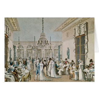 El café Frascati en 1807 Tarjeta De Felicitación