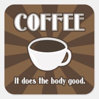 El café hace al buen pegatina II del cuerpo