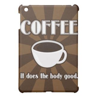 El café hace el buen iPad II del cuerpo