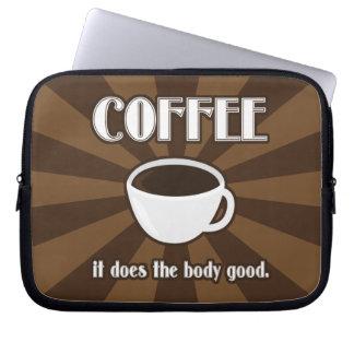 El café hace el cuerpo bueno mangas portátiles