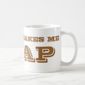 El café hace que crap. taza de café