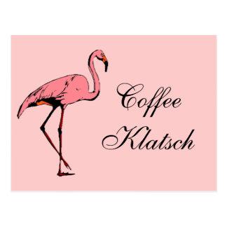 El café Klatsch del flamenco del vintage de la pos Postales