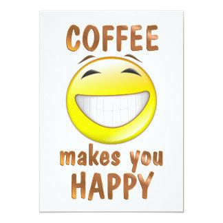 El café le hace feliz invitación