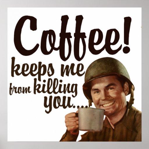 El café me guarda forma el matar de usted impresiones
