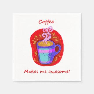 """El """"café me hace"""" al amante impresionante del café servilletas de papel"""