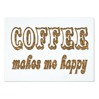 El café me hace feliz invitaciones personalizada