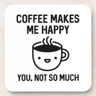 El café me hace feliz posavaso