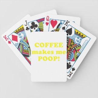 El café me hace impulso baraja de cartas bicycle