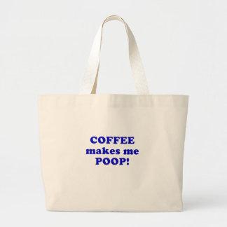 El café me hace impulso bolsa tela grande