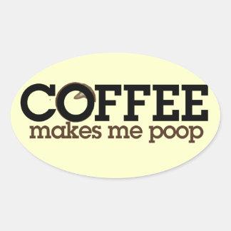 El café me hace IMPULSO Pegatinas De Óval