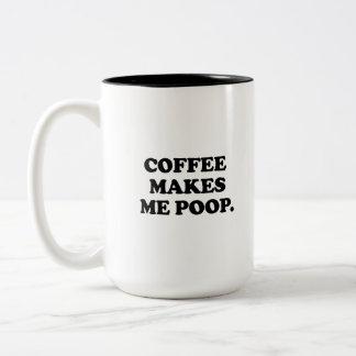 El café me hace impulso taza dos tonos