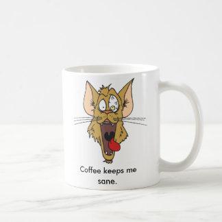 El café me mantiene sano tazas de café
