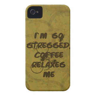El café me relaja caja intrépida de Blackberry iPhone 4 Coberturas
