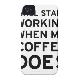 El café no está trabajando iPhone 4 fundas