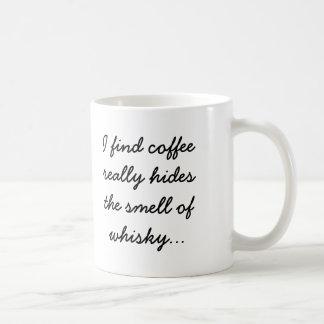 El café oculta el olor del whisky taza de café