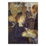 El café por Renoir, arte del impresionismo del Felicitaciones