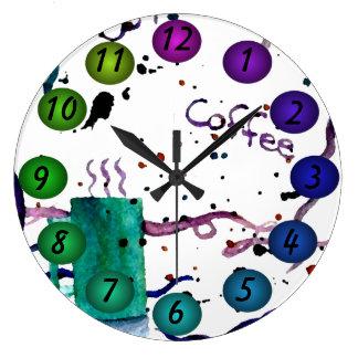 El café que flota los colores 3D diseña el reloj d