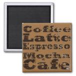 El café redacta el imán