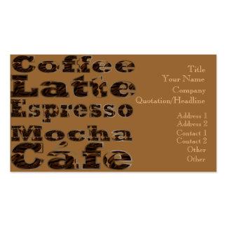 El café redacta la tarjeta de visita