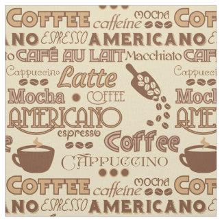 El café redacta la tela telas
